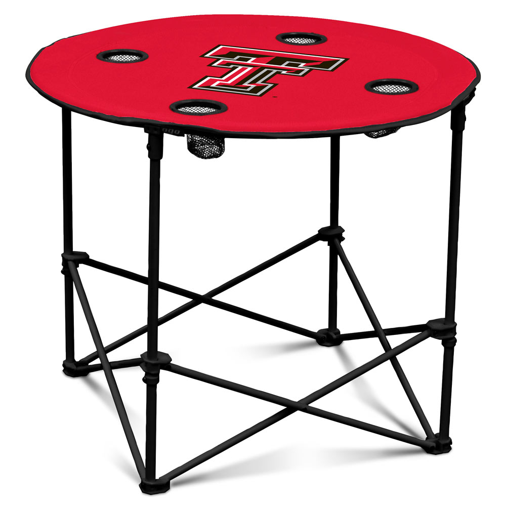 Texas Tech Red Raiders Round Tailgate Table