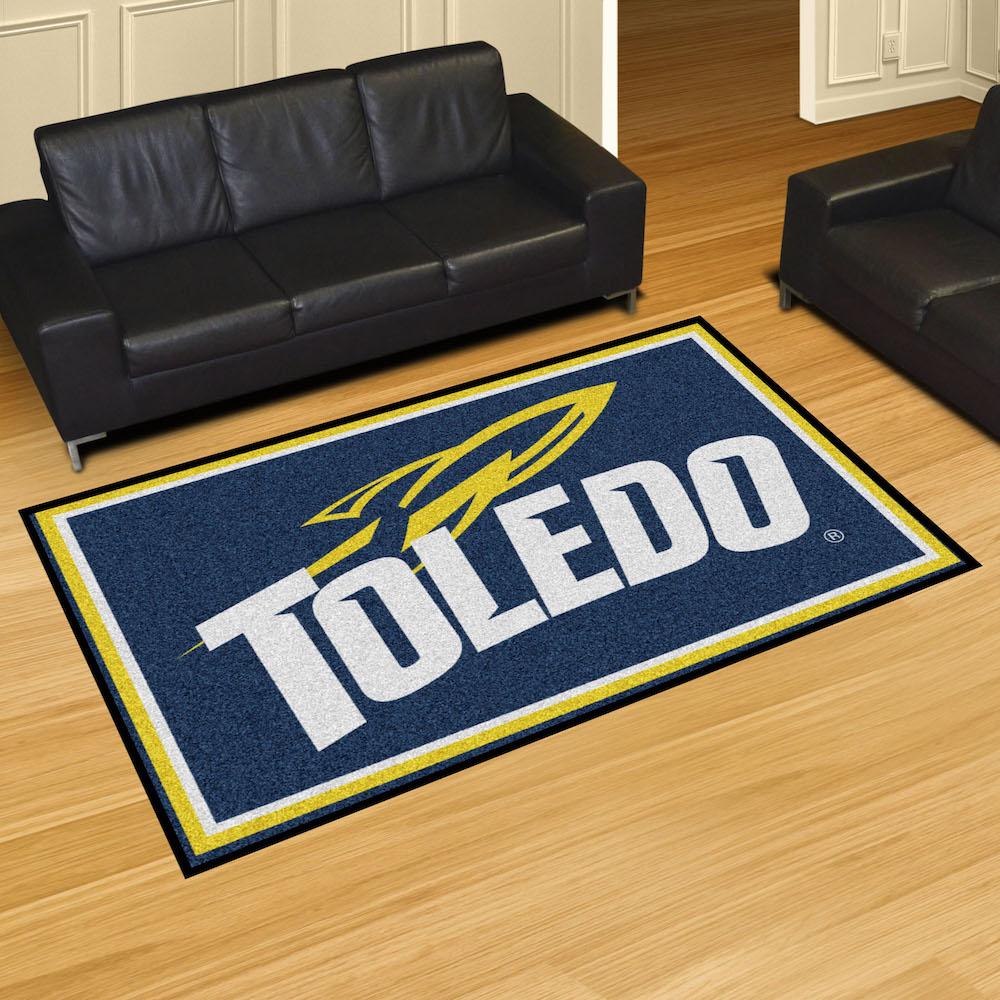 Toledo Rockets 5x8 Area Rug Buy At Khc Sports