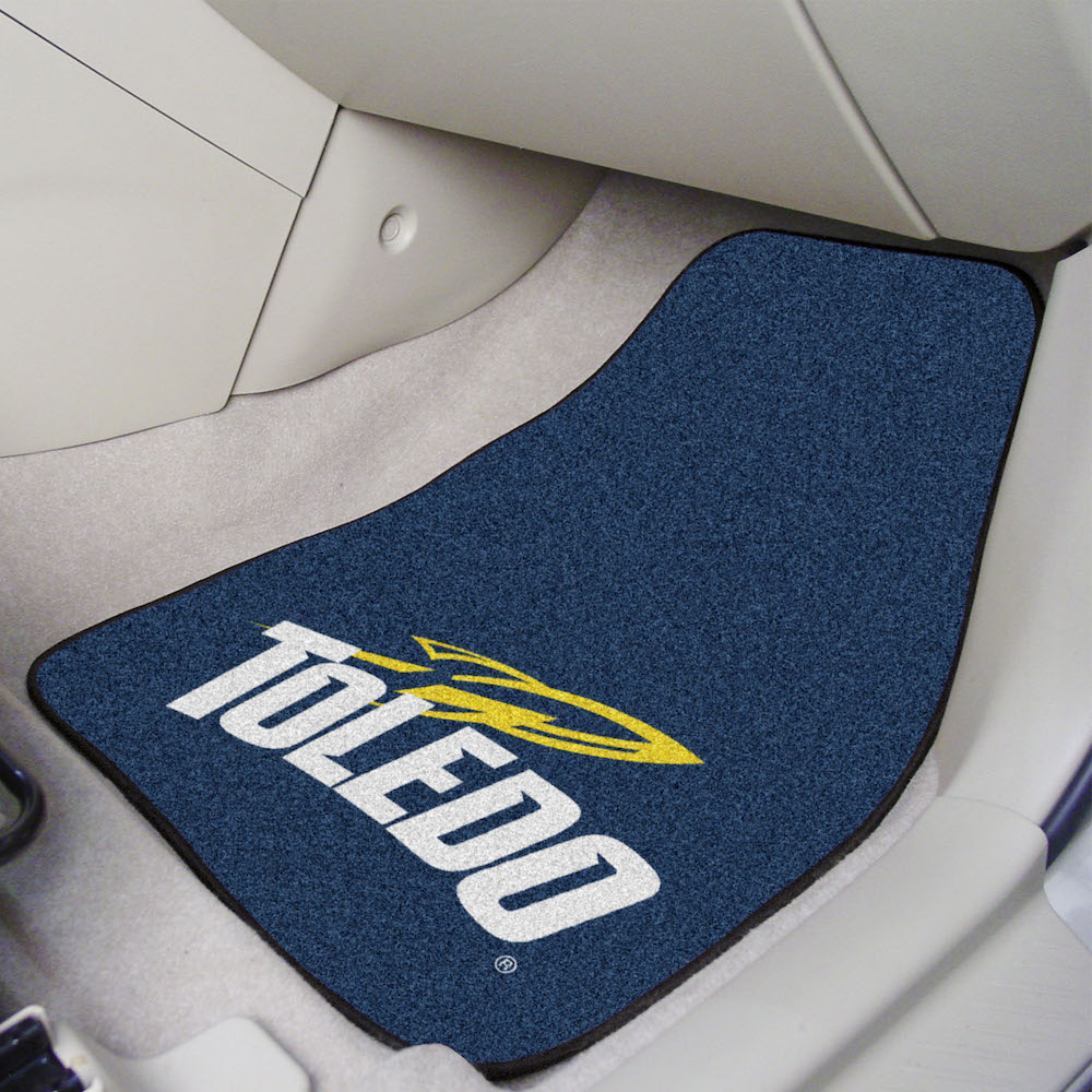 Toledo Rockets Car Floor Mats 18 x 27 Carpeted-Pair
