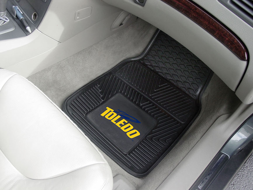 Toledo Rockets Car Floor Mats 18 x 27 Heavy Duty Vinyl Pair