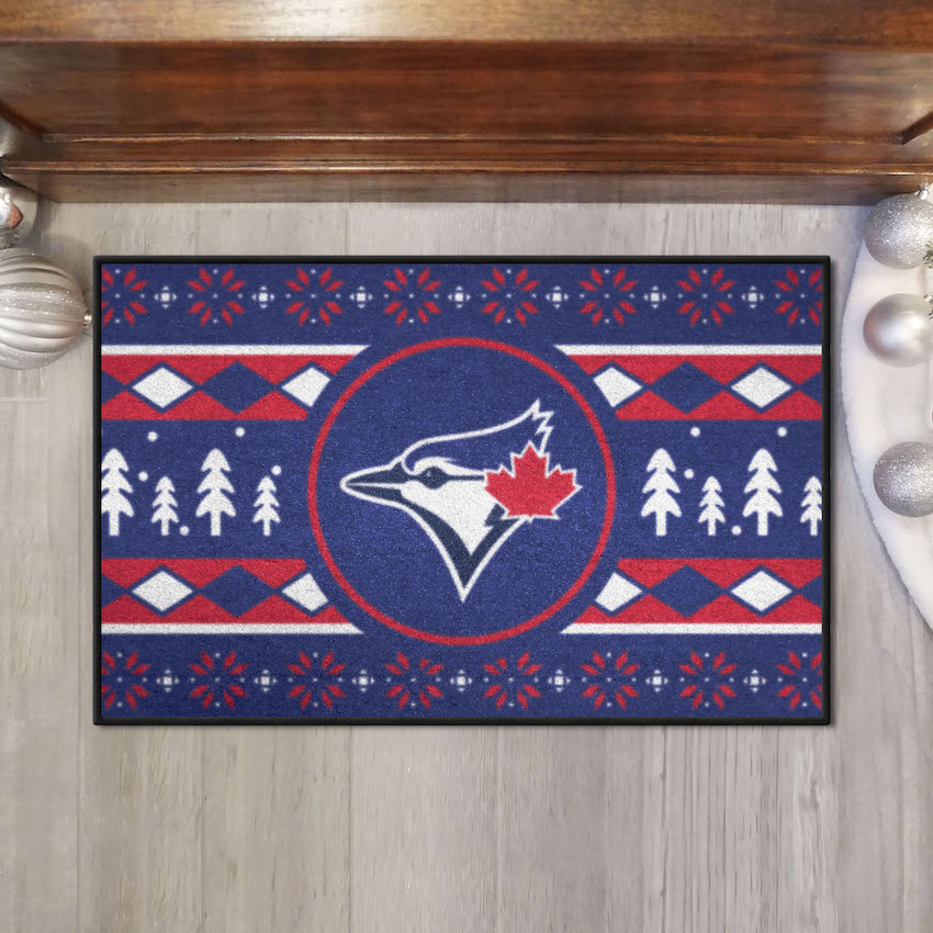 Toronto Blue Jays HOLIDAY SWEATER 20 x 30 STARTER Floor Mat