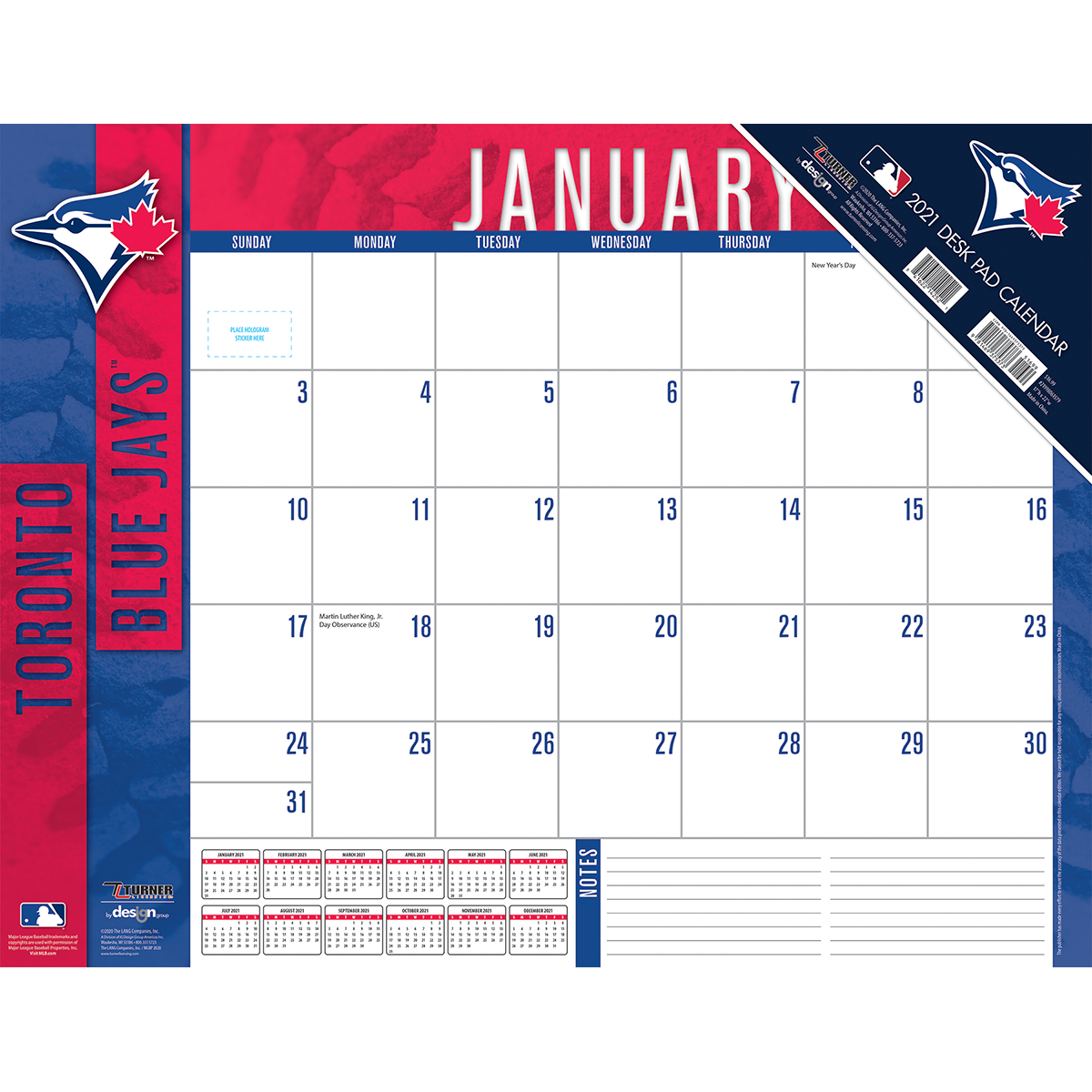 Toronto Blue Jays 2020 MLB 22 x 17 Desk Calendar