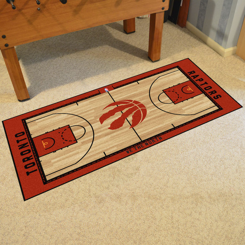 Toronto Raptors 30 x 54 LARGE Basketball Court Carpet Runner