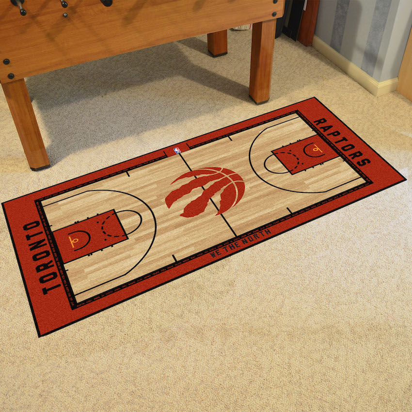 Toronto Raptors 24 x 44 Basketball Court Carpet Runner