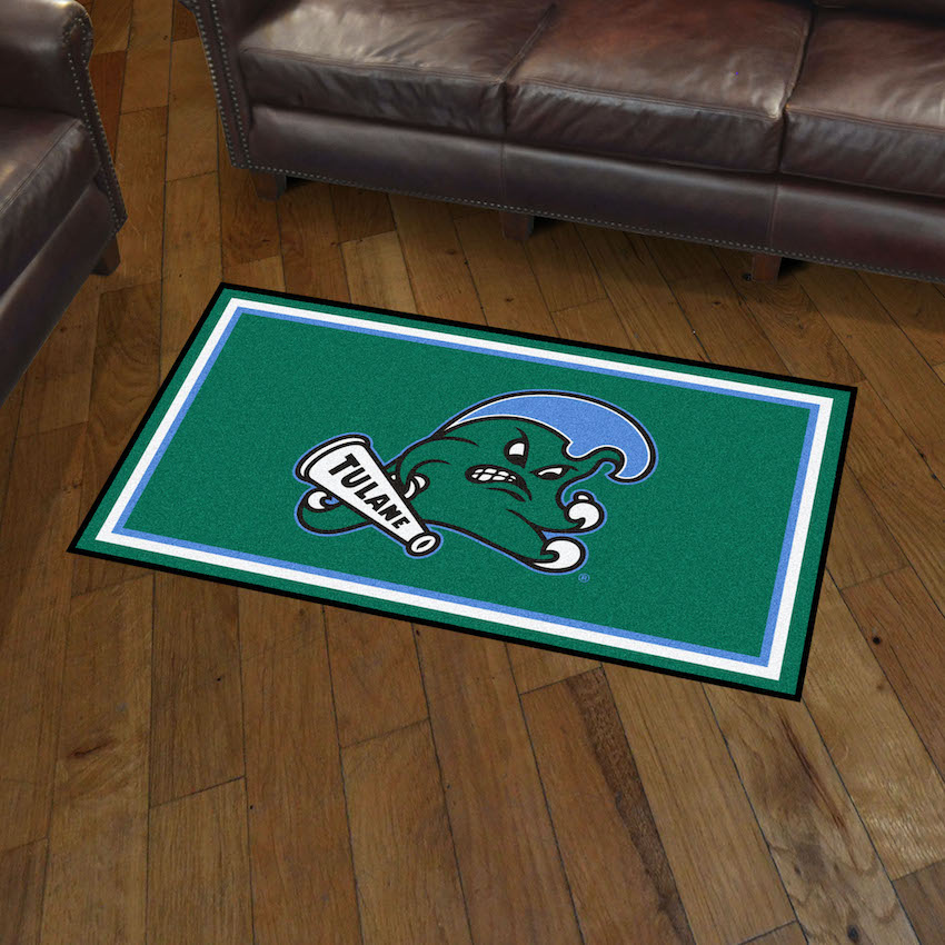 Tulane Green Wave 3x5 Area Rug
