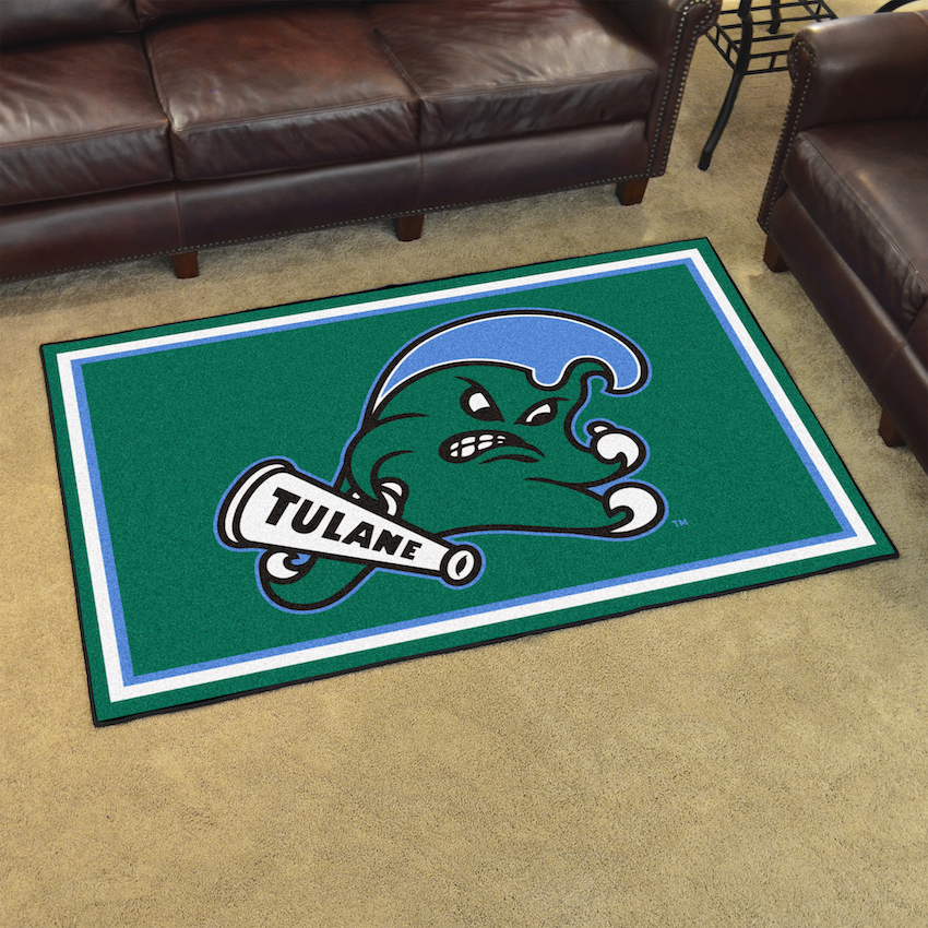 Tulane Green Wave 4x6 Area Rug