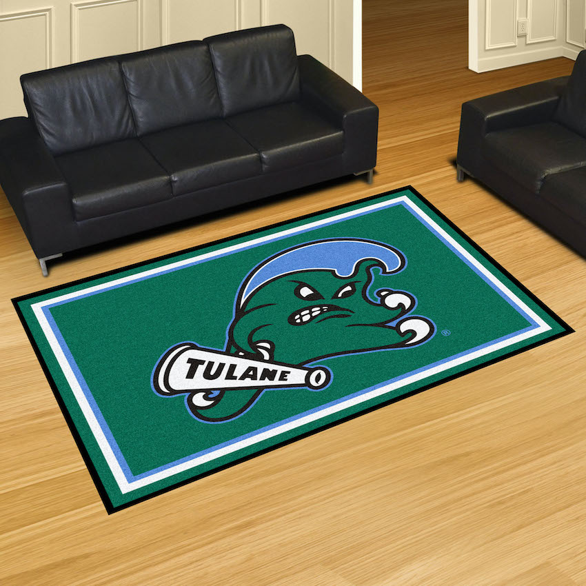 Tulane Green Wave 5x8 Area Rug