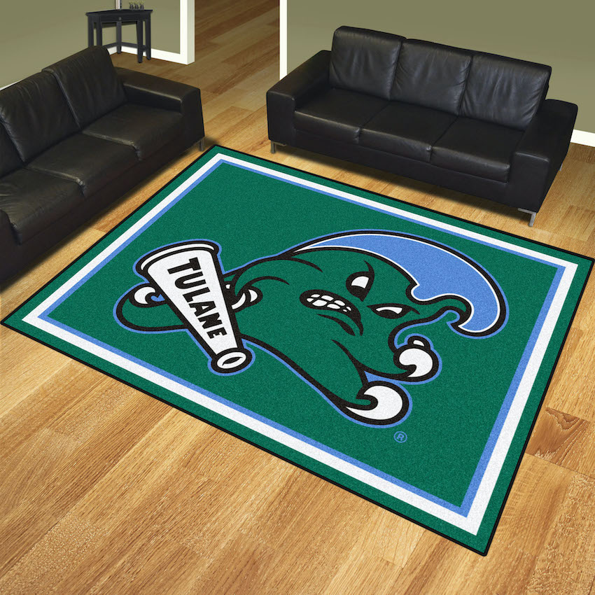 Tulane Green Wave Ultra Plush 8x10 Area Rug