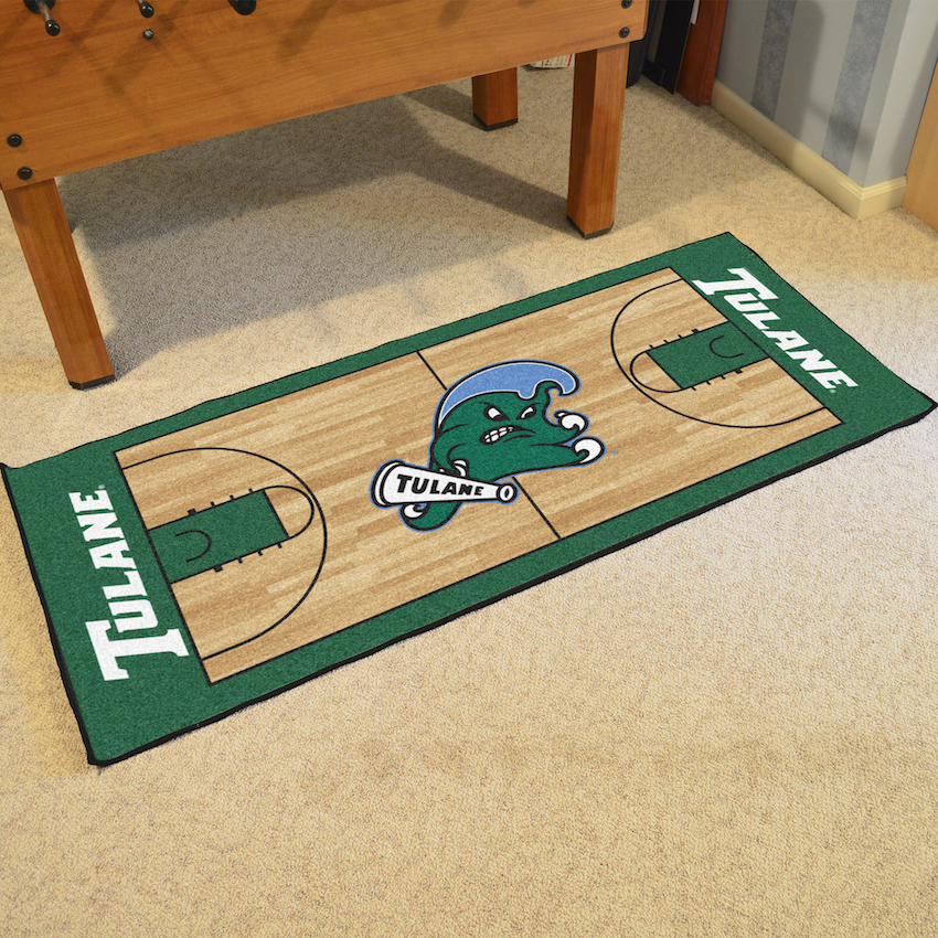 Tulane Green Wave 30 x 72 Basketball Court Carpet Runner