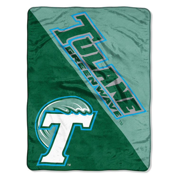 Tulane Green Wave Micro Raschel 50 x 60 Team Blanket