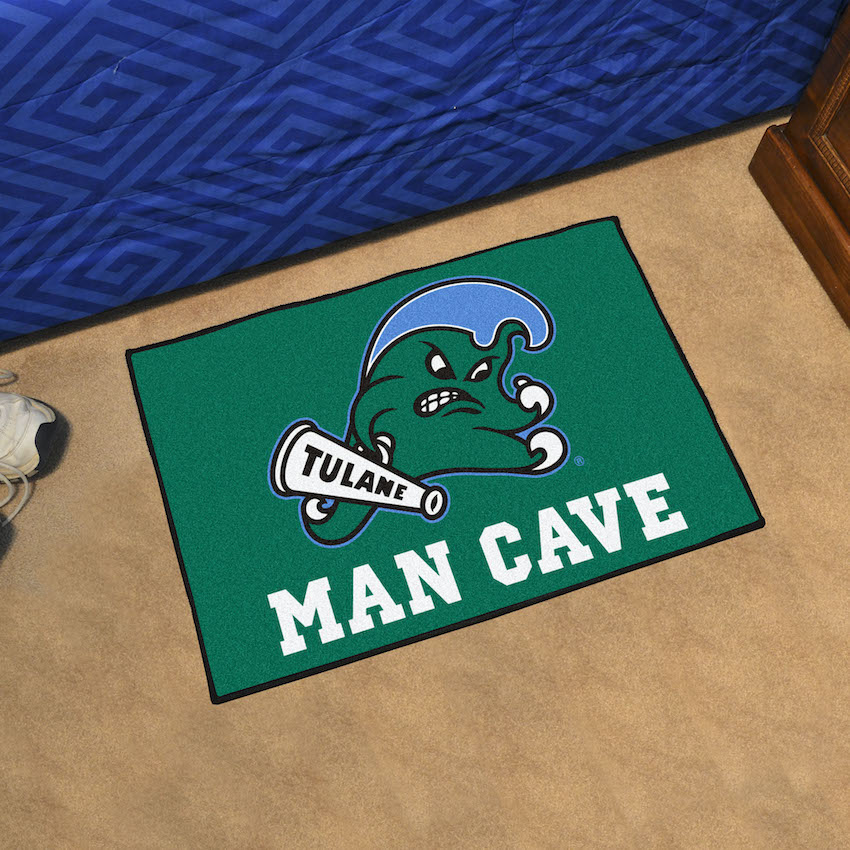 Tulane Green Wave MAN CAVE 20 x 30 STARTER Floor Mat