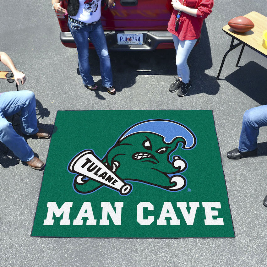 Tulane Green Wave MAN CAVE TAILGATER 60 x 72 Rug