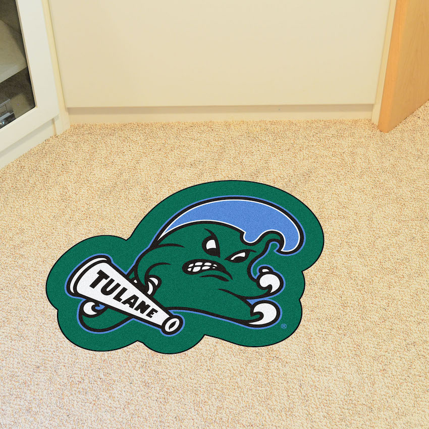 Tulane Green Wave MASCOT 36 x 48 Floor Mat