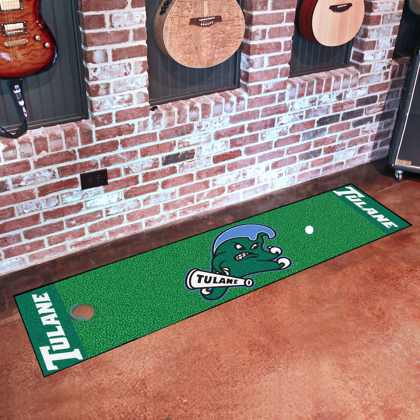 Tulane Green Wave Putting Green Mat 18 x 72