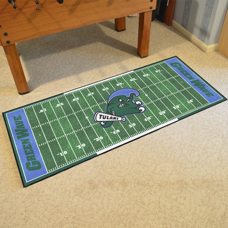 Tulane Green Wave 30 x 72 Football Field Carpet Runner