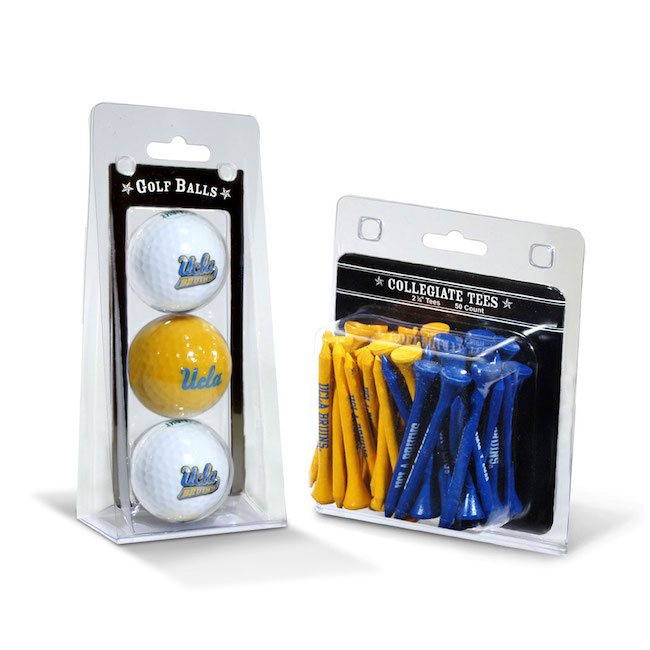 UCLA Bruins 3 Ball Pack and 50 Tee Pack