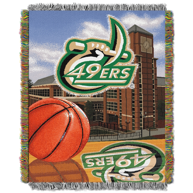 UNC Charlotte 49ers Home Field Advantage Series Tapestry Blanket 48 x 60