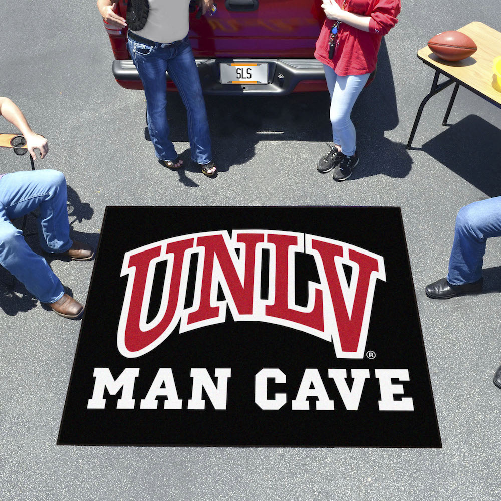 UNLV Rebels MAN CAVE TAILGATER 60 x 72 Rug