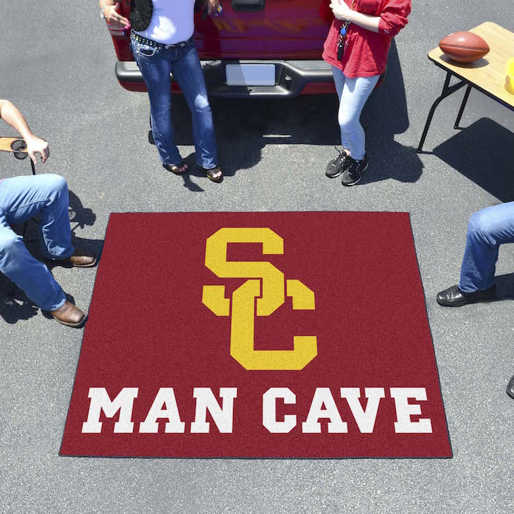 USC Trojans MAN CAVE TAILGATER 60 x 72 Rug