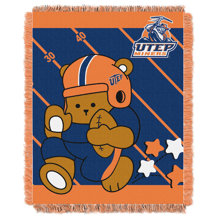 UTEP Miners Woven Baby Blanket 36 x 48