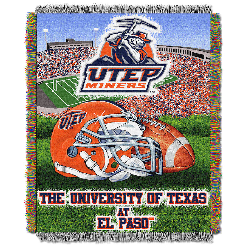 UTEP Miners Home Field Advantage Series Tapestry Blanket 48 x 60
