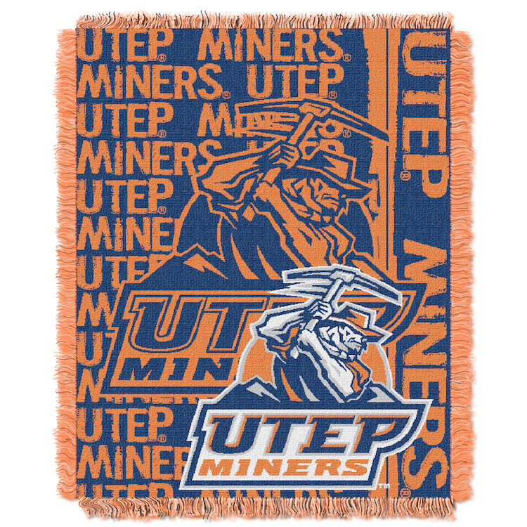 UTEP Miners Double Play Tapestry Blanket 48 x 60