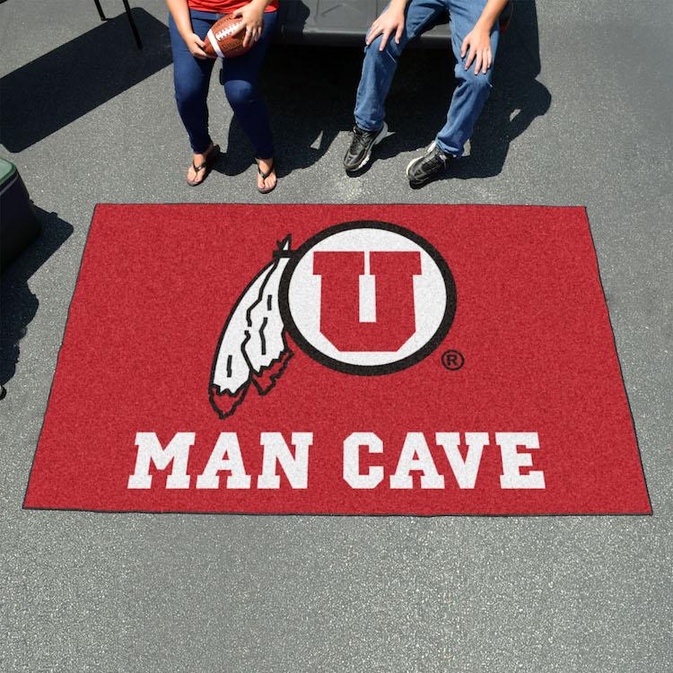 Utah Utes Utili Mat 60 X 96 Man Cave Rug Buy At Khc Sports