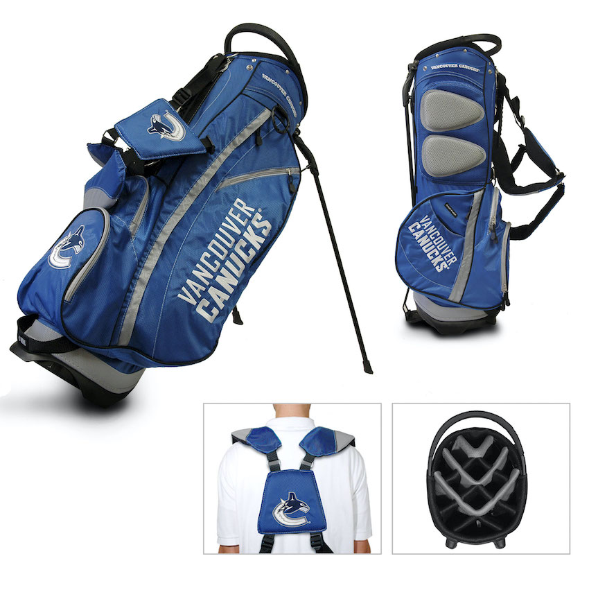 Vancouver Canucks Fairway Carry Stand Golf Bag