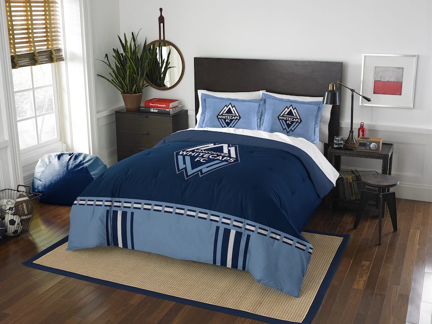 Vancouver Whitecaps QUEEN/FULL size Comforter and 2 Shams