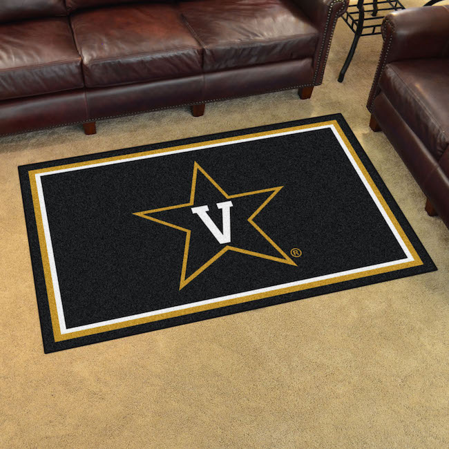 Vanderbilt Commodores 4x6 Area Rug