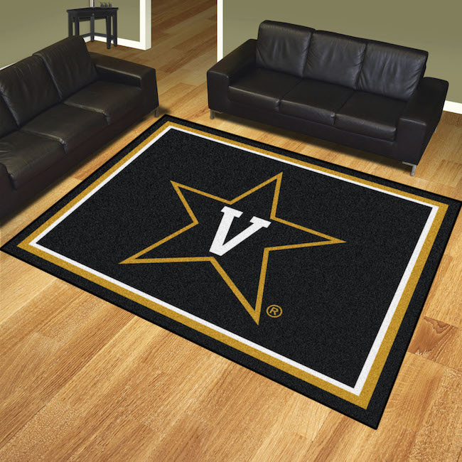 Vanderbilt Commodores Ultra Plush 8x10 Area Rug