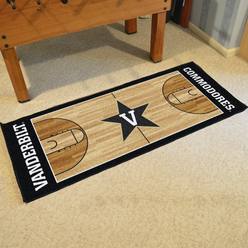Vanderbilt Commodores 30 x 72 Basketball Court Carpet Runner