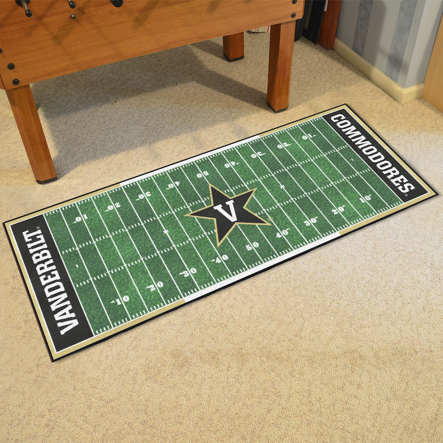 Vanderbilt Commodores 30 x 72 Football Field Carpet Runner