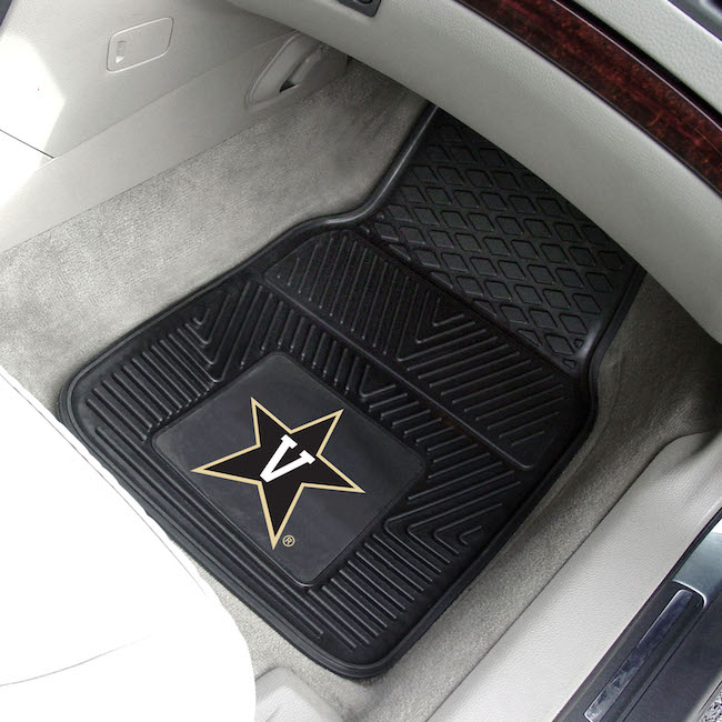 Vanderbilt Commodores Car Floor Mats 18 x 27 Heavy Duty Vinyl Pair