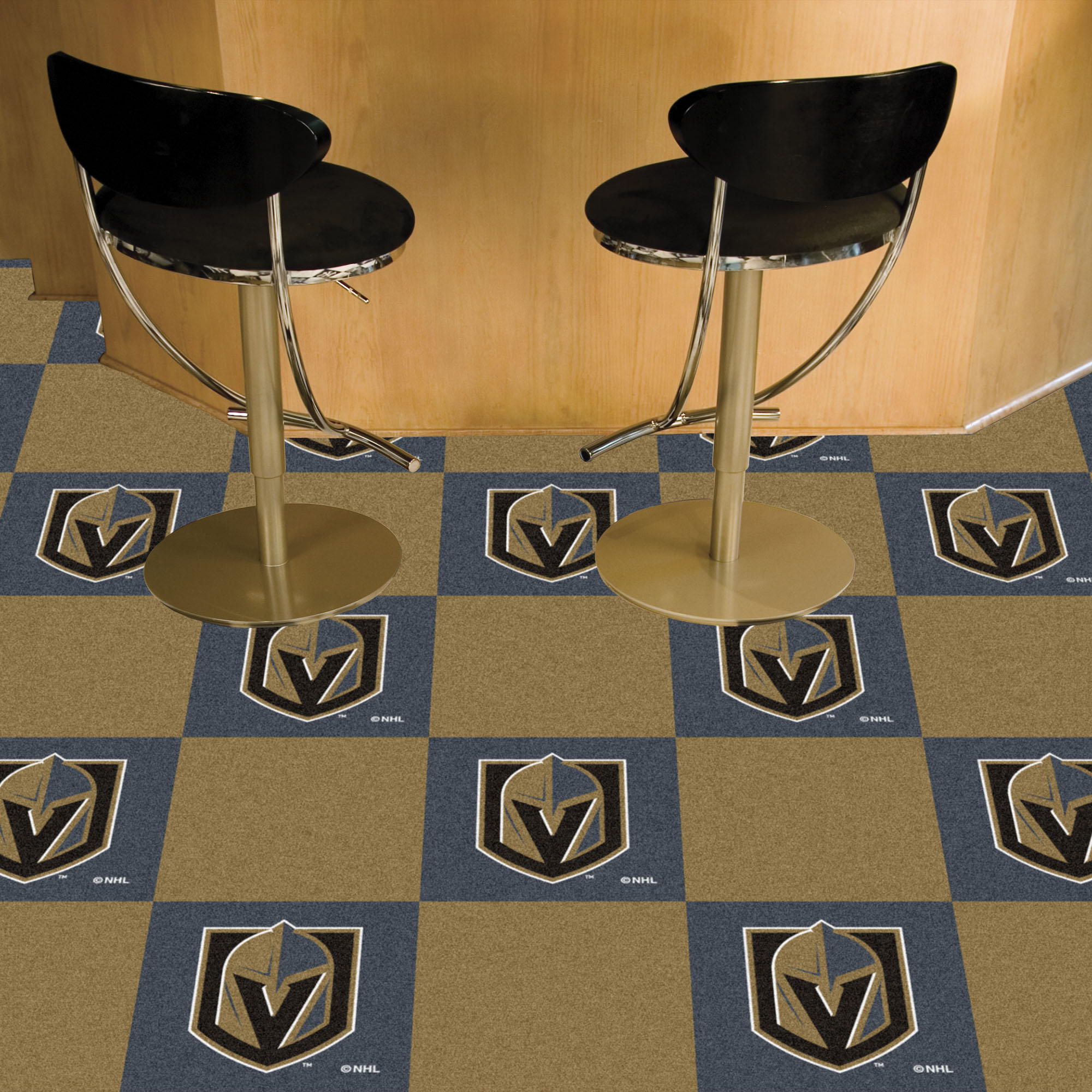 Vegas Golden Knights Carpet Tiles 18x18 in.