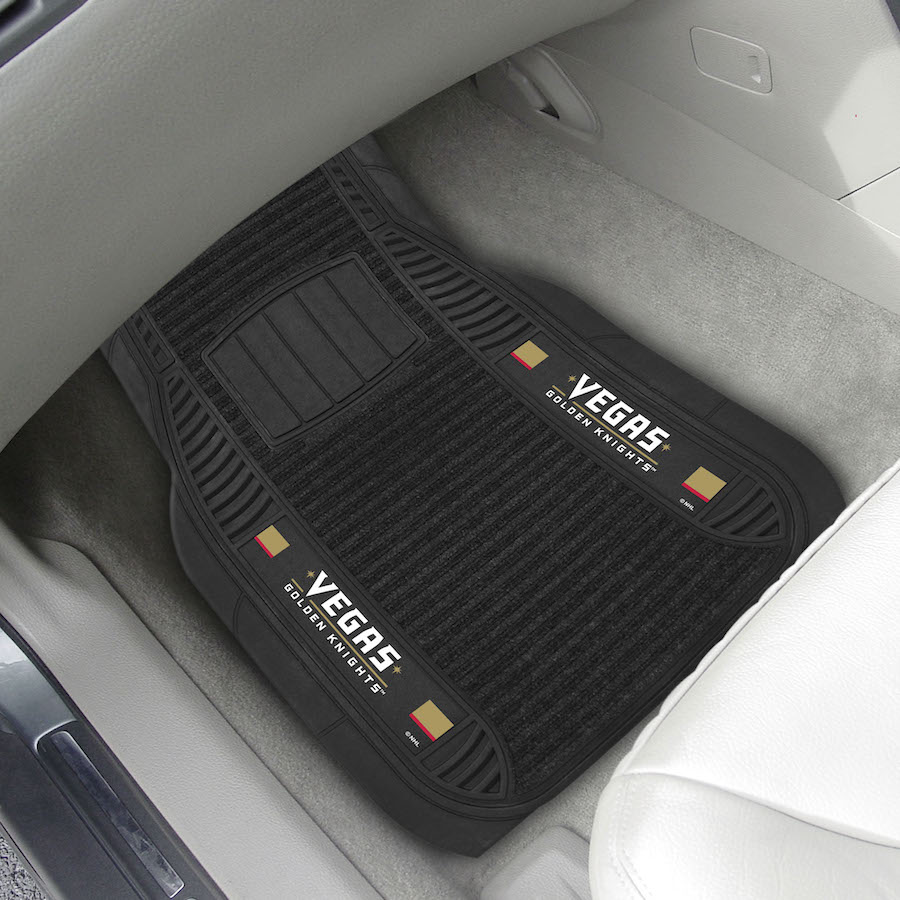 Vegas Golden Knights Deluxe 20 x 27 Car Floor Mats