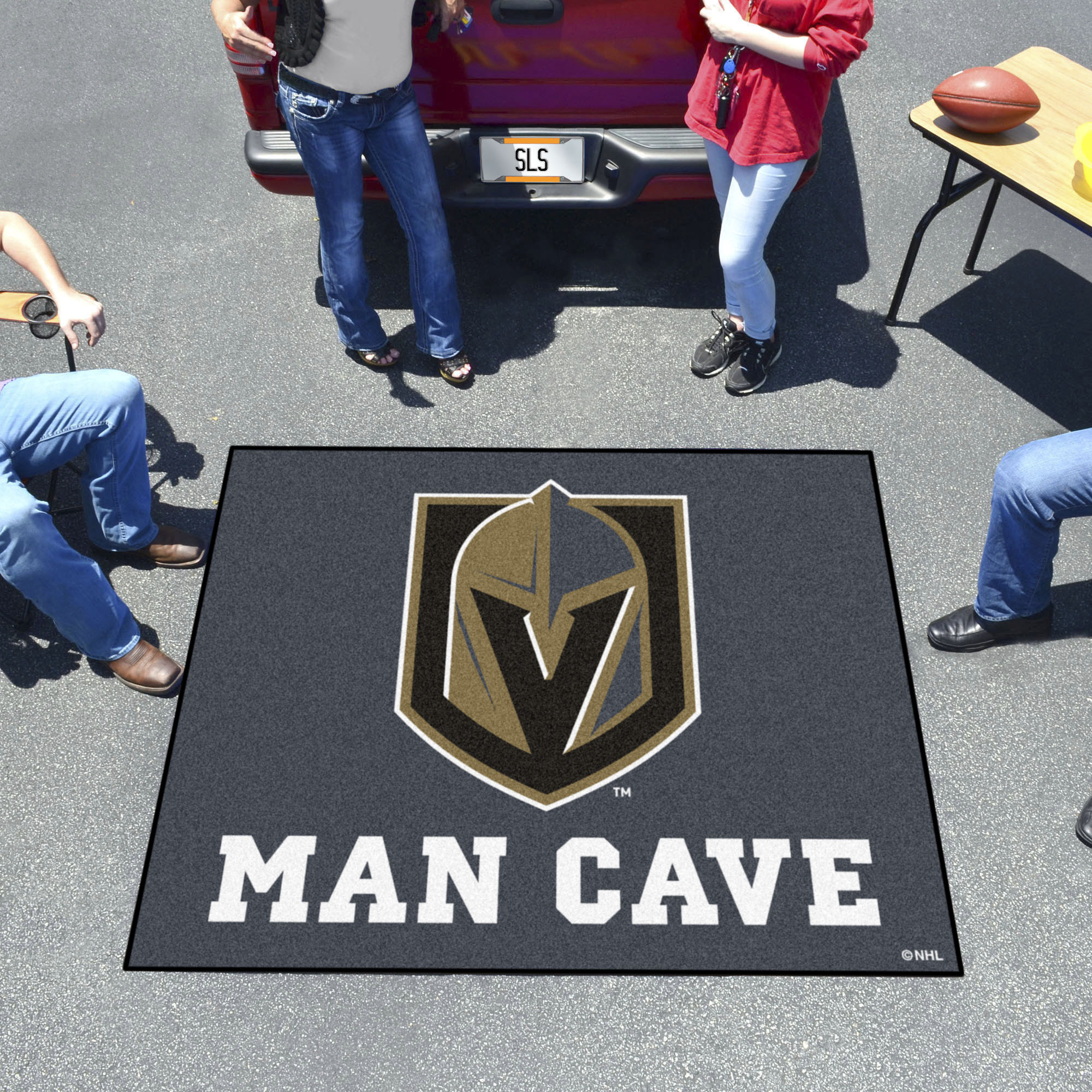 Vegas Golden Knights MAN CAVE TAILGATER 60 x 72 Rug
