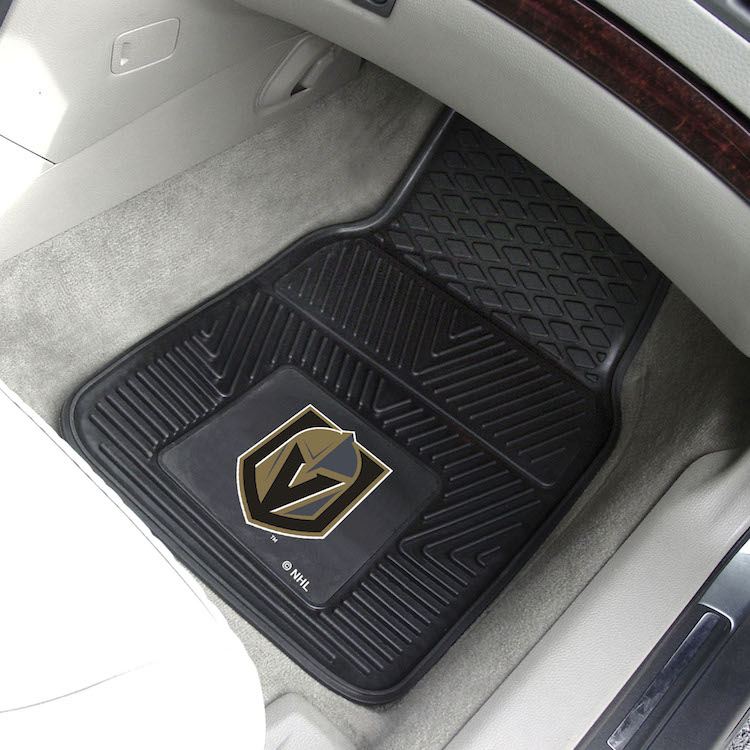 Vegas Golden Knights Car Floor Mats 18 x 27 Heavy Duty Vinyl Pair