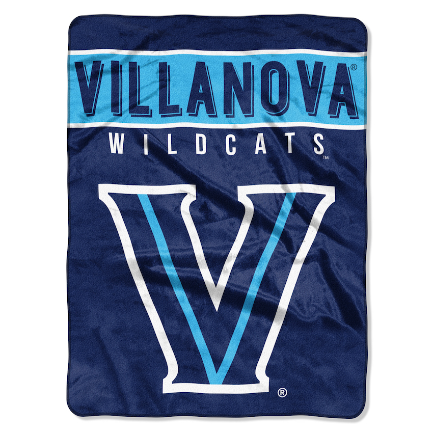 Villanova Wildcats Large Plush Fleece OVERTIME 60 x 80 Blanket