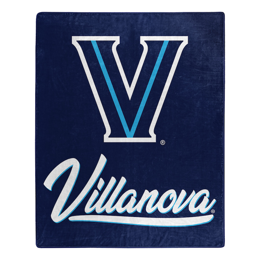 Villanova Wildcats Plush Fleece Raschel Blanket 50 x 60