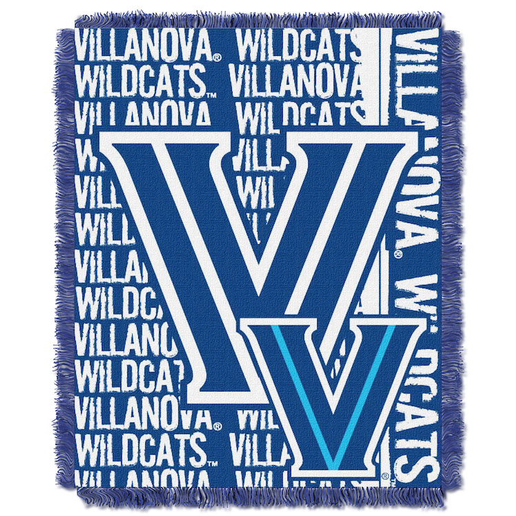 Villanova Wildcats Double Play Tapestry Blanket 48 x 60