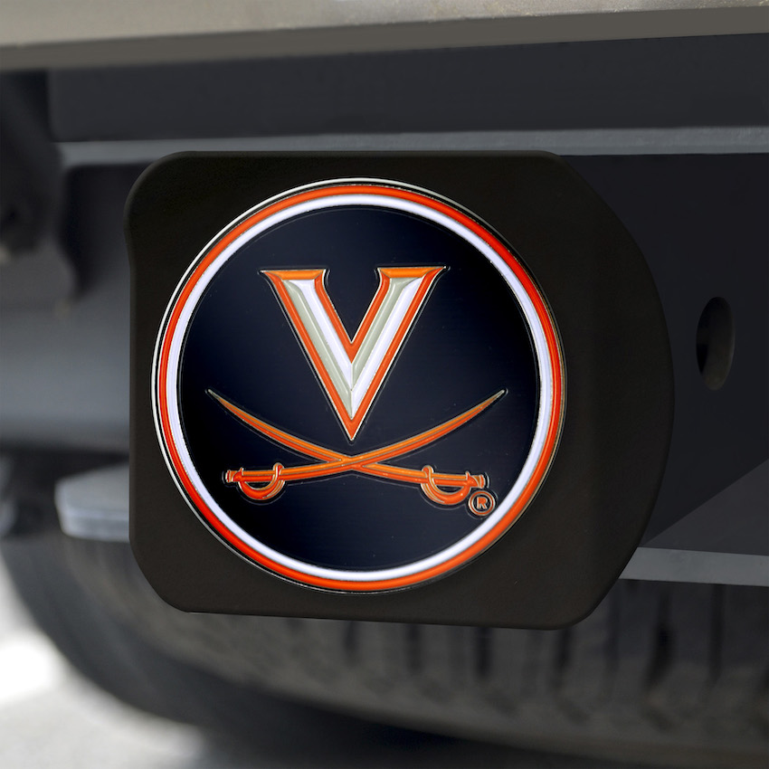 Virginia Cavaliers Black and Color Trailer Hitch Cover