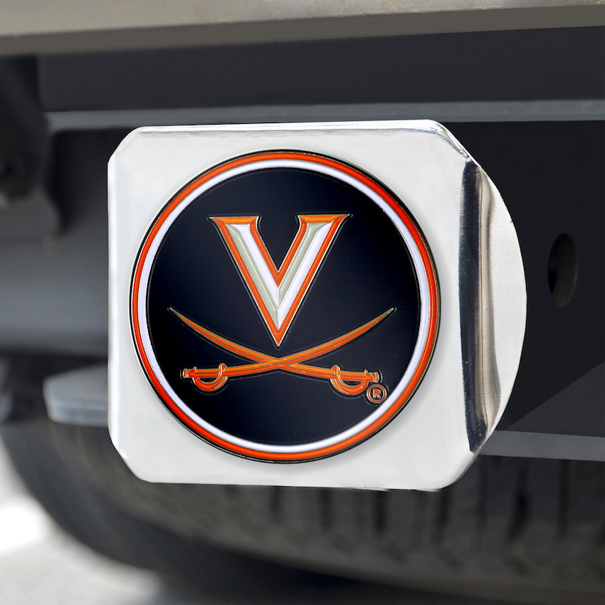 Virginia Cavaliers Color Chrome Trailer Hitch Cover