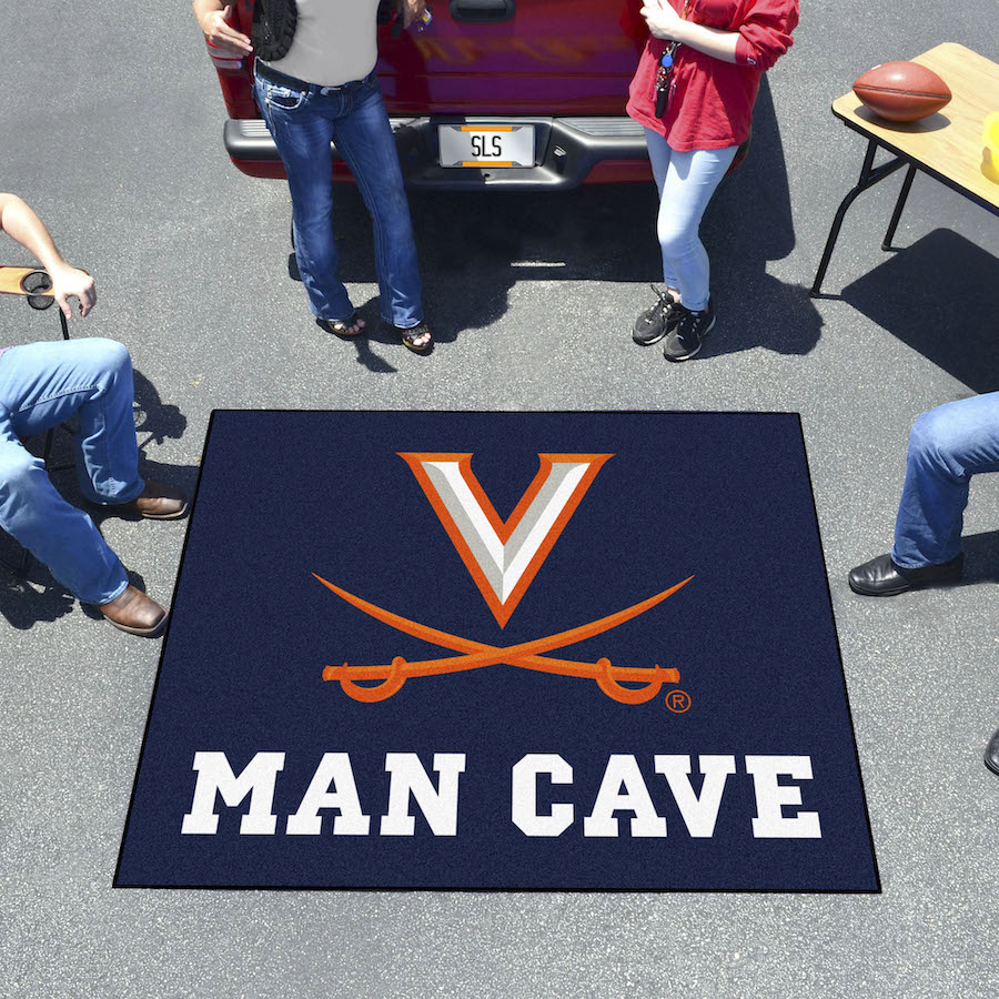 Virginia Cavaliers MAN CAVE TAILGATER 60 x 72 Rug