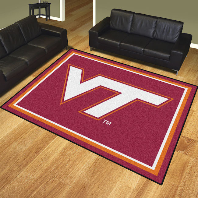 Virginia Tech Hokies Ultra Plush 8x10 Area Rug