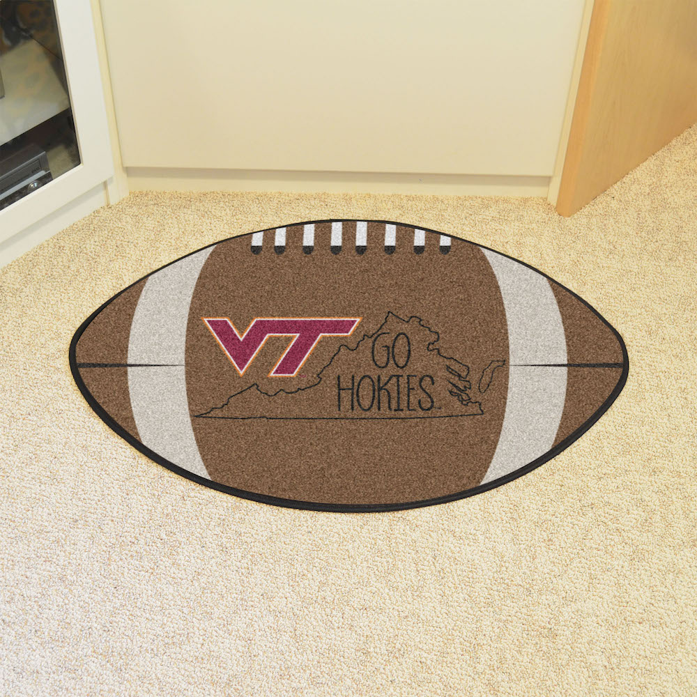 Virginia Tech Hokies SOUTHERN STYLE 22 x 35 Football Mat