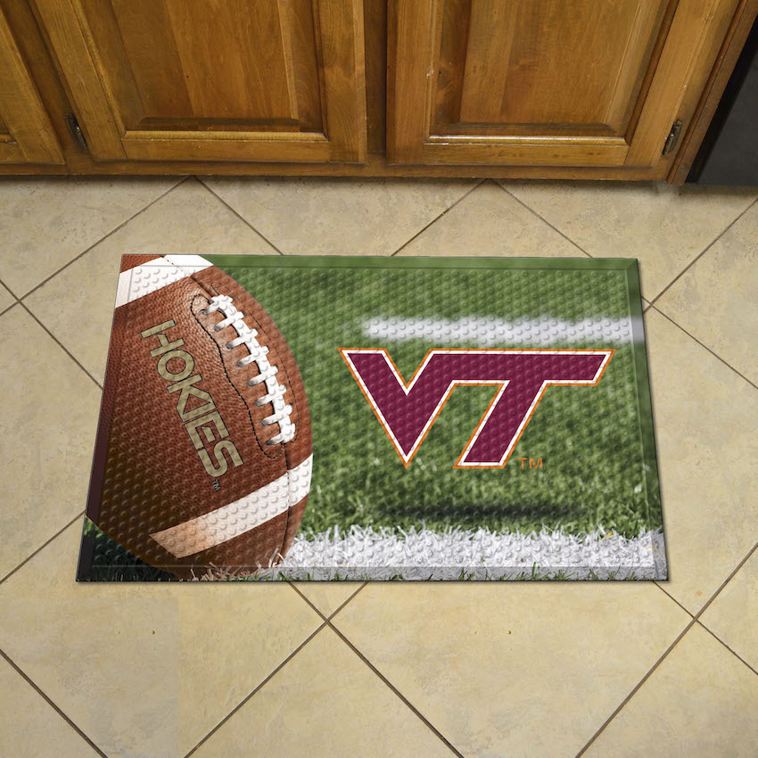 Virginia Tech Hokies Ball Style SCRAPER Door Mat