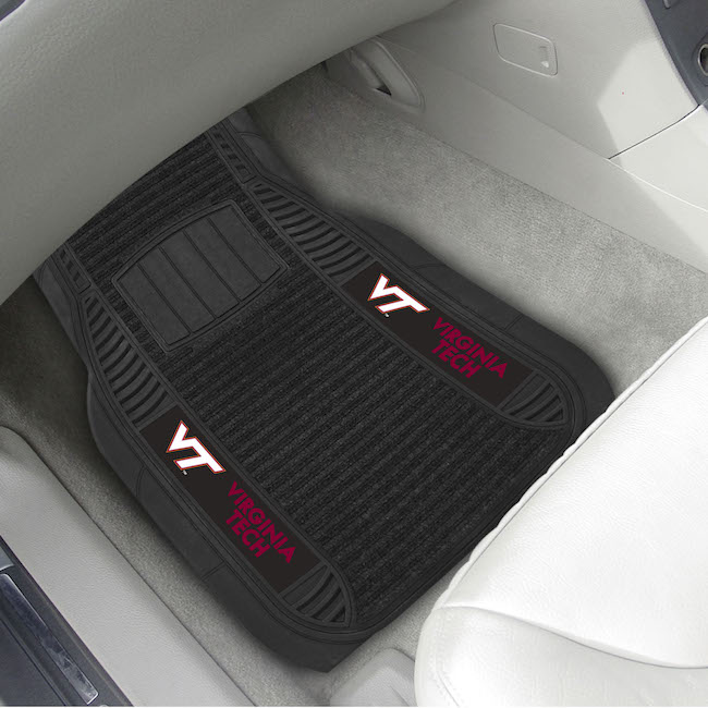 Virginia Tech Hokies Deluxe 20 x 27 Car Floor Mats