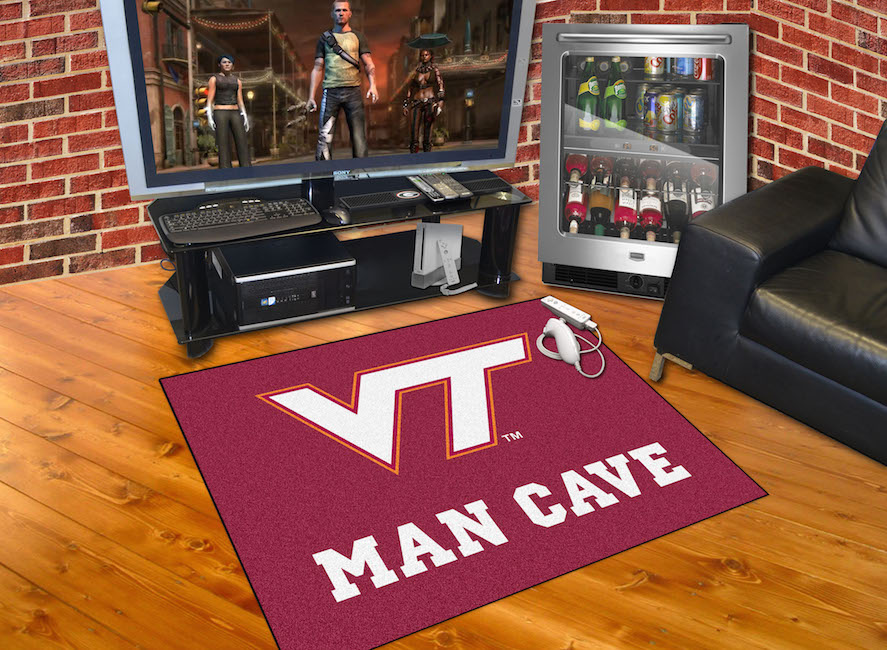 Virginia Tech Hokies ALL STAR 34 x 45 MAN CAVE Floor Mat