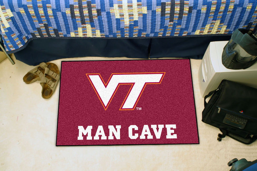 Virginia Tech Hokies MAN CAVE 20 x 30 STARTER Floor Mat